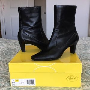 Circa Joan & David Leather Ankle Boots, Black, 7.5